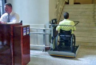 Turning Inclined Platform Wheelchair Lifts